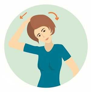 درمان ورزشی کششی کتف گردن درد