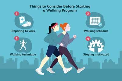 برنامه پیاده روی برای کاهش وزن
